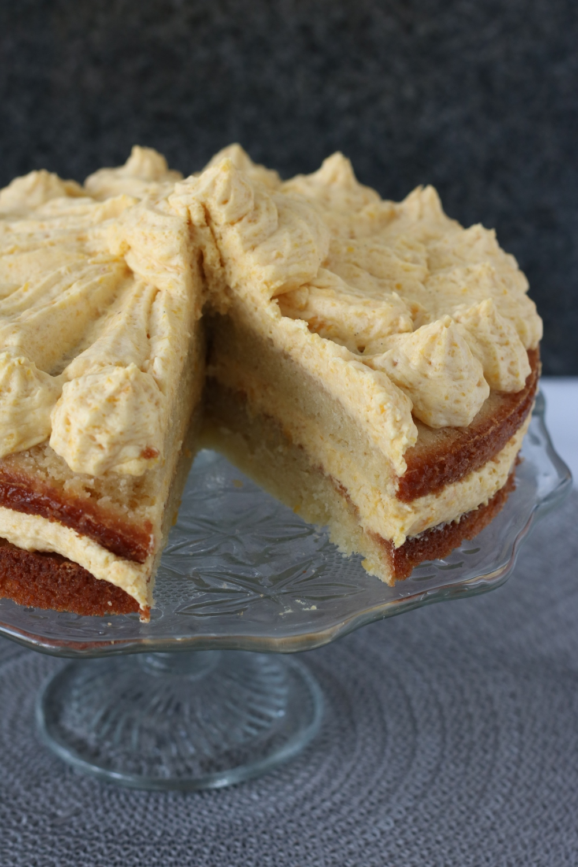 Abrikozenmousse taart