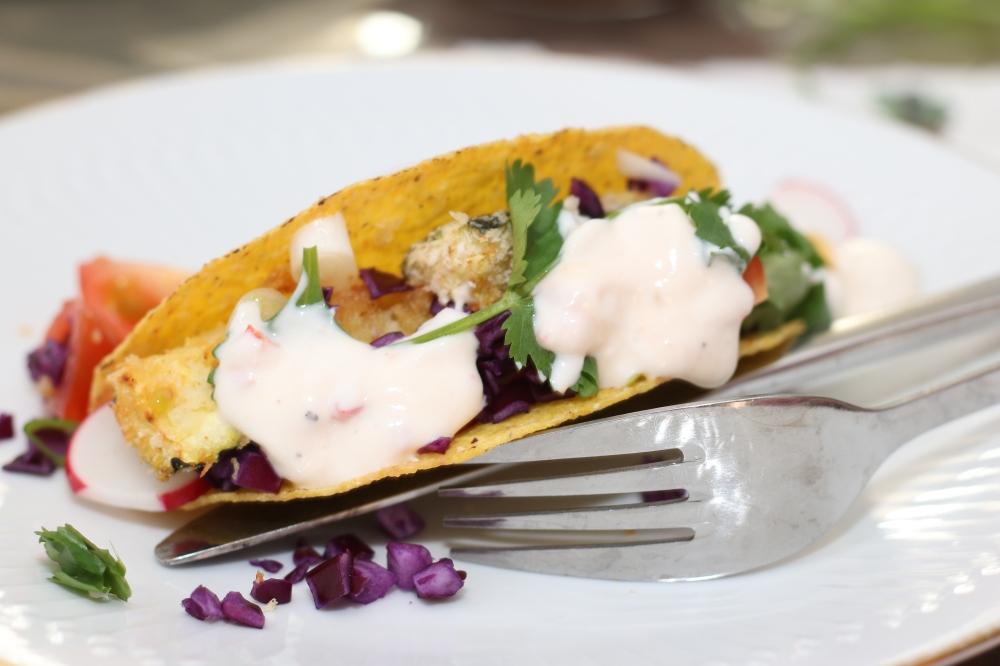 Taco's met crispy courgette