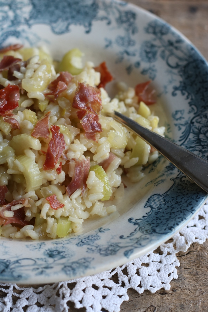 risotto met bleekselderij