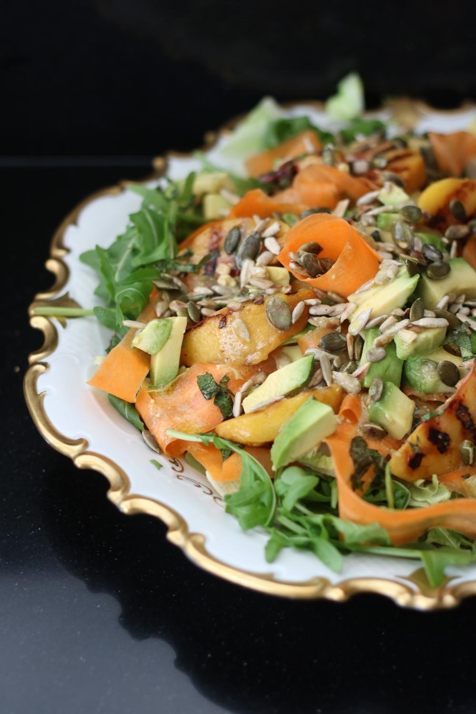 perzik wortel salade