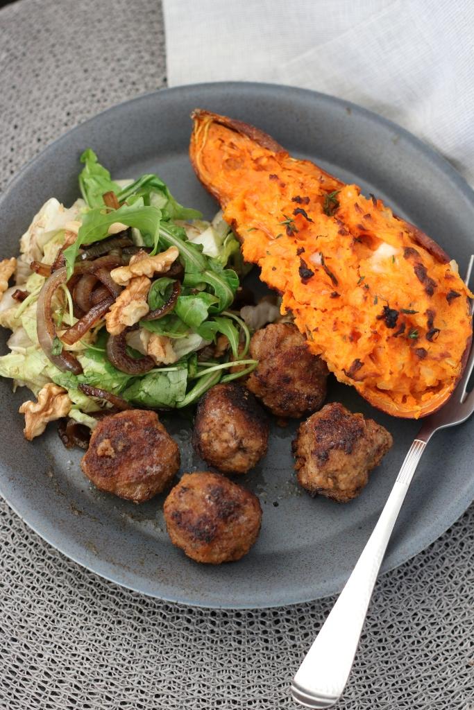 zoete aardappel met taleggio
