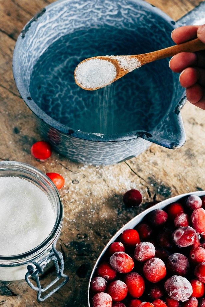 gesuikerde cranberries