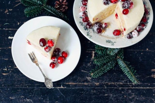witte chocolade cranberrytaart